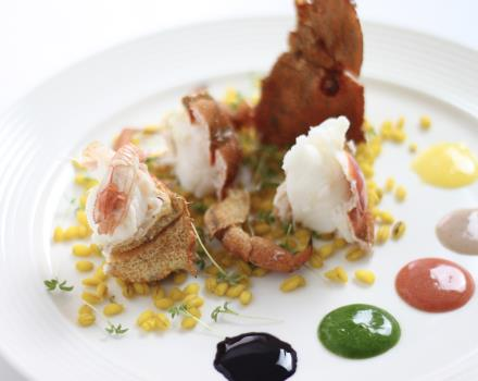 Refined dishes with fish at the BW Plus Hotel Perla del Porto 4-star in Catanzaro Lido