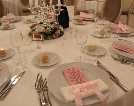 Staging tables wedding at the Best Western Plus Hotel Perla del Porto 4 stars