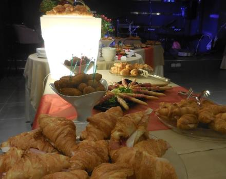 Aperitif with salty Croissant at the Best Western Plus Hotel Perla del Porto
