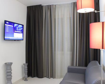 Living area in the rooms of Best Western Plus Hotel Perla del Porto Catanzaro Lido
