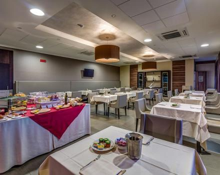 The buffet breakfast in our hotel 4 star hotel in Catanzaro Lido is rich in typical products
