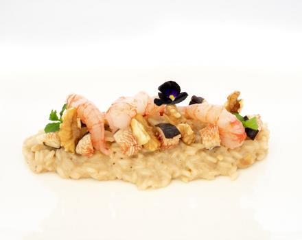 Try our Pecan shrimp risotto and figs: stay at BW Plus Hotel Perla del Porto