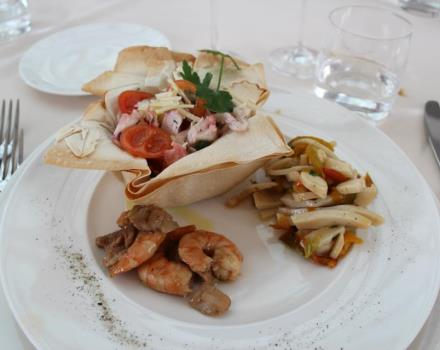 Check out a meal at the Restaurant L'olimpo