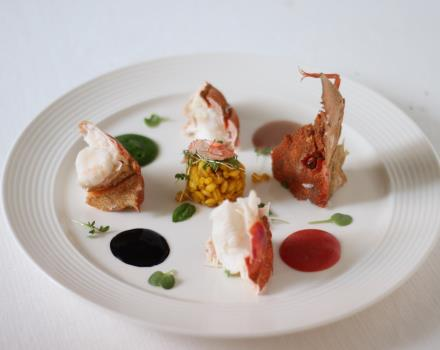 The flavours of the dishes at the restaurant of the BW Plus Hotel Perla del Porto 4-star